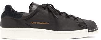 Y-3 Y 3 Superknot Leather Low Top Trainers - Mens - Black