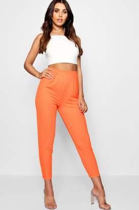 boohoo Petite Pleat Front Trouser