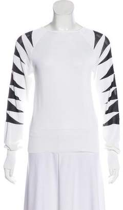 Thierry Mugler Bicolor Knit Sweater