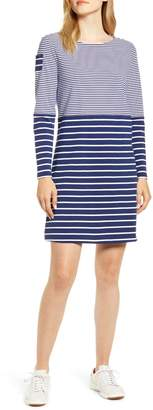 Vineyard Vines Mix Stripe Long Sleeve Cotton Shift Dress