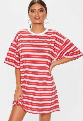 Missguided Red Oversized TShirt Dress Kinda Care