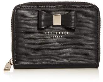 Ted Baker Small Embossed Leather Zip Wallet