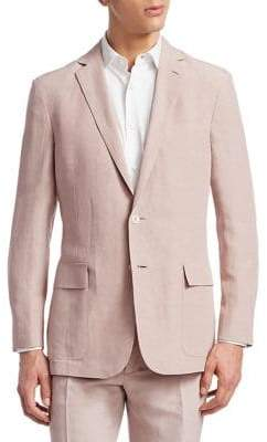 Ralph Lauren Purple Label Silk Linen Slub Blazer