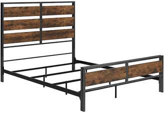 Hewson Industrial Rustic Wood Queen Size Bed Frame