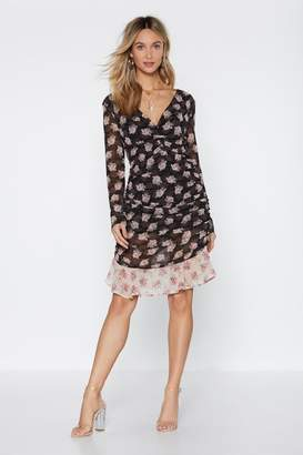 Nasty Gal Looking Real Fancy Floral Dress