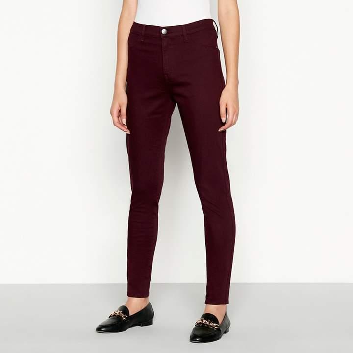 Wine Red 'Heidi' High Waisted Skinny Jeans
