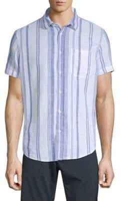 Calvin Klein Jeans Classic-Fit Beach Stripe Cotton Shirt