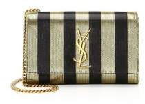 Saint Laurent Small Kate Monogram Striped Crossbody Bag