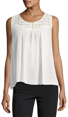 Raga Avila Lace-Yoke Swing Blouse