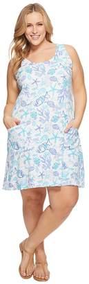 Extra Fresh by Fresh Produce Plus Size Sea Life Drape Dress Women's Dress