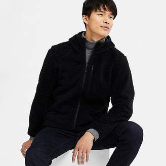 Uniqlo Men's Windproof Pile-lined Fleece Full-zip Hoodie (online Exclusive)