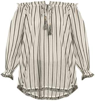 Zimmermann Aerial striped cotton top