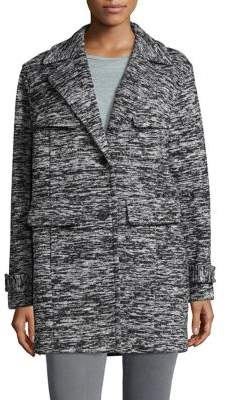 Jones New York Marled Notch Collar Jacket