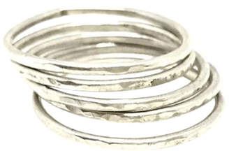 Sweet1985 Hammered Stackable Rings
