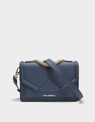 Karl Lagerfeld K/Klassik Shoulder Bag in Navy Saffiano