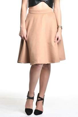 Blaque Label Camel High-Waisted Skirt