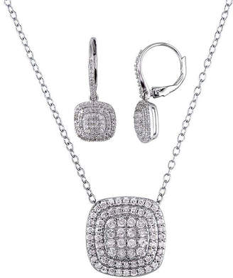 FINE JEWELRY 1 CT. T.W. Diamond Sterling Silver Pendant and Earring Set