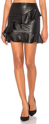 Endless Rose Asymmetrical Ruffle Mini Skirt