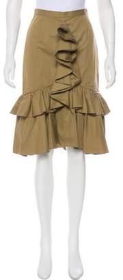 Tome Knee-Length Ruffled Skirt