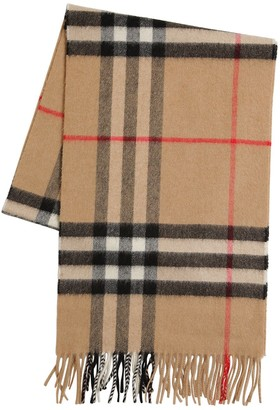 Burberry Classic Check Giant Icon Wool Scarf