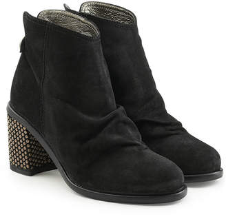 Fiorentini+Baker Robin Suede Ankle Boots with Embellished Heel
