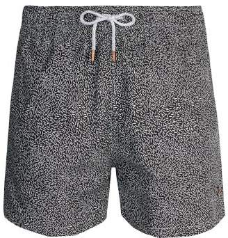 Retromarine - Japanese Rice Print Swim Shorts - Mens - Black