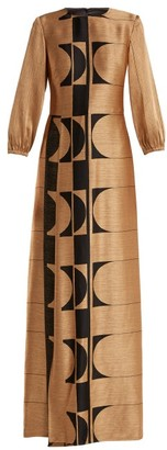 Osiris Carl Kapp Abstract Jacquard Gown - Womens - Gold Multi