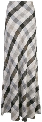 Rosetta Getty hamper check maxi skirt