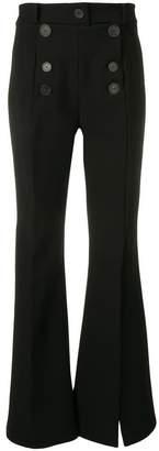 Awake split leg flared trousers