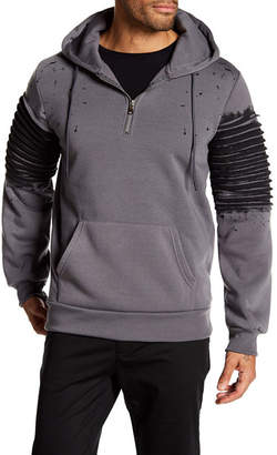 TR PREMIUM TR Premium Mens Fashion Fleece Paint Splatter Hoodie