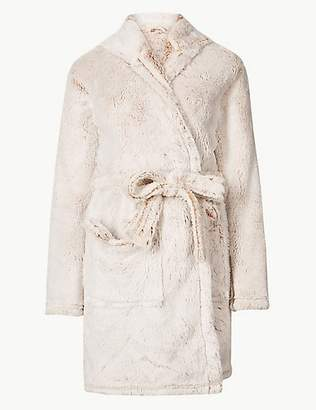 M&S Collection Fleece Bear Hooded Dressing Gown