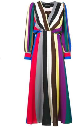 Cavallini Erika striped v-neck dress