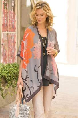 Soft Surroundings Giverny Silk Topper