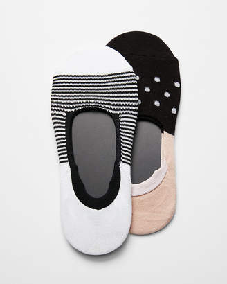 Express 2 Pack Patterned No-Show Socks