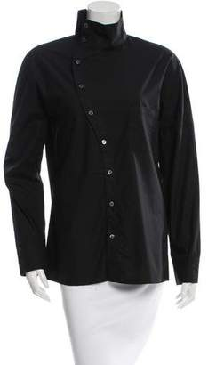 Hache Long Sleeve Button-Up Top w/ Tags