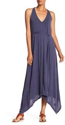 Lucky Brand Sandwash V-Neck Maxi Dress
