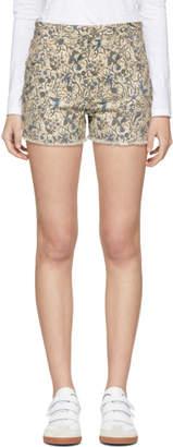 Etoile Isabel Marant Ecru Denim Uruguay Shorts