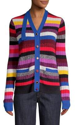 Marc Jacobs Cashmere Striped Cardigan