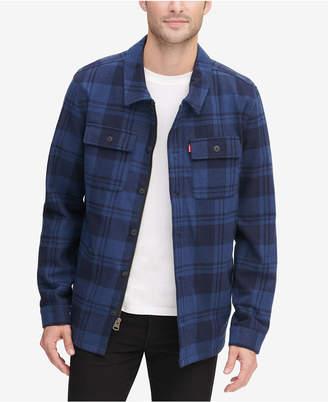 Levi's Men Plaid Shirt Jacket