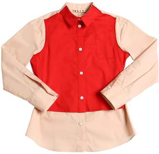 Marni Junior Cotton Poplin Shirt