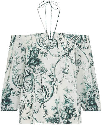 Whistles Effie Cold Shoulder Silk Top