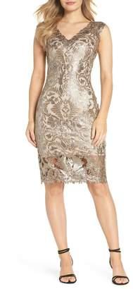 Tadashi Shoji Sequin & Lace Sheath Dress