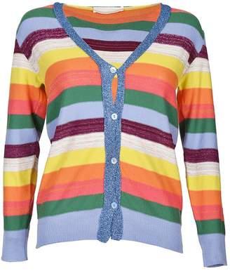 Chiara Bertani Button Striped Sweater