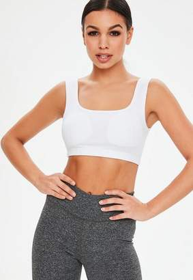 Missguided Active White Sports Bra