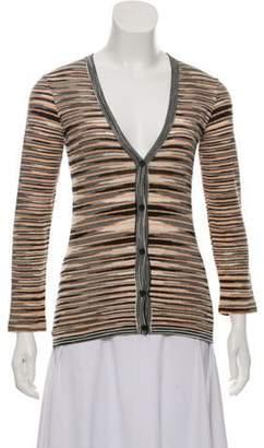 Missoni Striped V-Neck Cardigan Black Striped V-Neck Cardigan