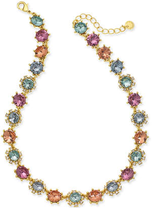 """Charter Club Gold-Tone Multi-Stone Collar Necklace, 17"""" + 2"""" extender, Created for Macy's"""