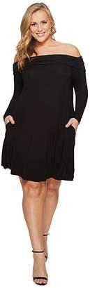 KARI LYN Plus Size Felicia Off Shoulder Dress