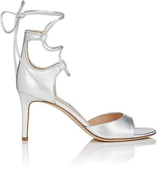 Diane von Furstenberg WOMEN'S RIMINI LEATHER ANKLE-WRAP SANDALS