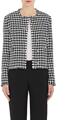 Thom Browne Women's Embellished Gingham Cotton Blazer $2,560 thestylecure.com