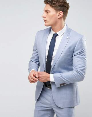 Burton Menswear Slim Suit Jacket In Blue